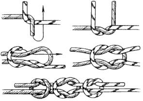 Встречный узел как вязать схема